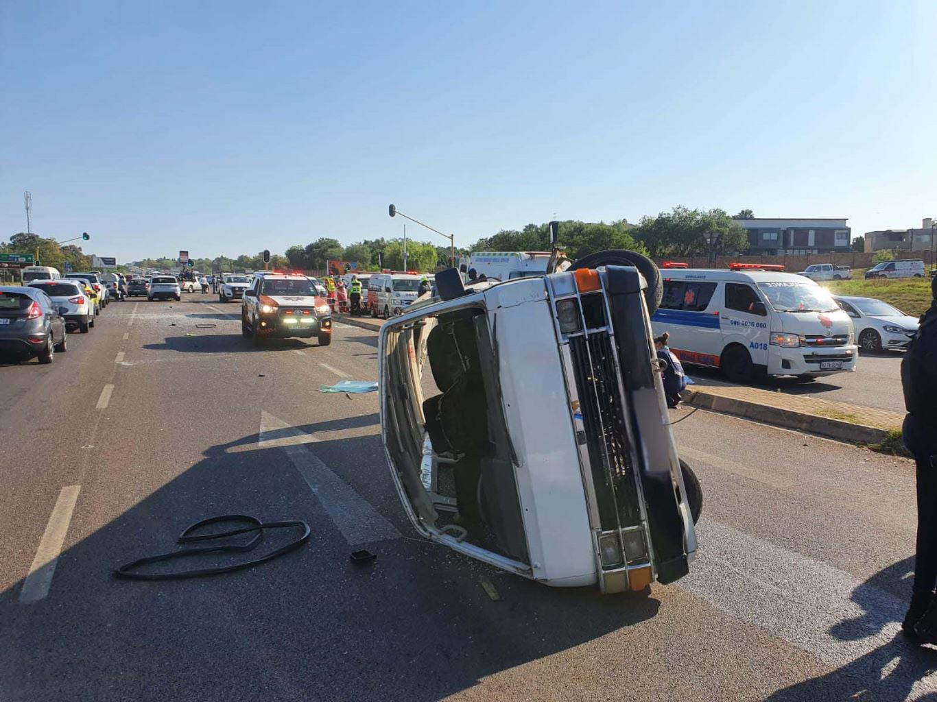 Multiple injured in a three-vehicle collision in Kyalami