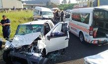 4 injured in a head on crash in Westville