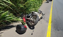 A Biker injured in crash on the M7 West Bound near Hans Dettman in Pinetown