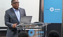 Transport Minister addressing PRASA Management and Staff