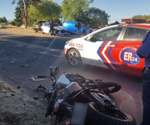 Motorbike rider seriously injured after colliding with a car in Kuilsrivier
