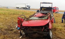 Four people injured in rollover on N1 near the Kroonvaal Toll Plaza