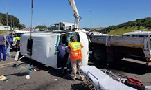 Multiple injured in Taxi Crash on the M1 Higginson Highway over the N2 Freeway