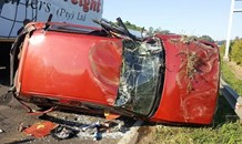3 People injured in a crash after a vehicle lost control and rolled,  Durban