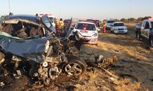 Three killed, one injured in N4 head-on collision in Rustenburg