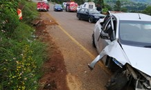 Two injured in Edendale Road crash