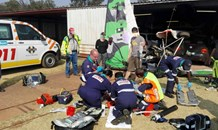 Microlight pilot airlifted with multiple and severe injuries following crash in Magaliesburg area.