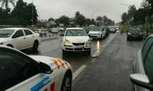 Three injured in a collision on Alexandra Road, Pietermaritzburg