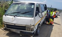 Thirteen injured when mini-bus taxi driver tries to avoid truck crash in Grovener Marburg