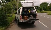 KZN: bakkie driver hospitalised after crashing into tree, Pietermaritzburg