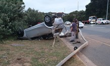 Two injured in Ballito rollover