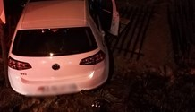One hospitalised after driver loses control on Harris road in Edenvale