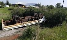 Three men injured in a truck rollover in the Loch Vaal suburb of Vanderbijlpark