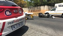 Randburg delivery man seriously injured after being knocked off motorbike