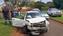 Three people have been injured after two separate collisions on the corner of ZK Matthews and Penzance Road in Glenwood