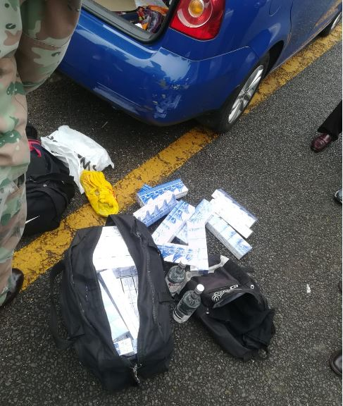 Nine arrested with illicit cigarettes, dagga and illegal firearm at North Coast roadblock