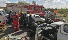 Six injured, one critically, in collision in Three Rivers, Vereeniging