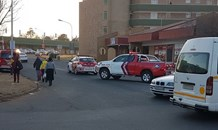 Taxi and car collide leaving ten injured, Potchefstroom