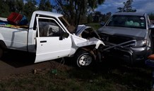 Two bakkies collide head-on near Westonaria leaving four people injured