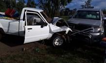 Two bakkies collide head-on near Westonaria leaving four people injured