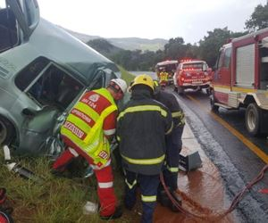 Two vehicles collided in Nelspruit leaving one person dead and three injured