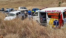 Two injured in bakkie rollover on the R34 Memel road