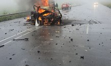 Four killed in fiery head-on crash  on the R34 between Melmoth and Ulundi