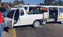 Six people injured in a collision at an intersection in Newcastle