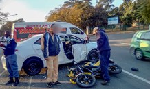 Biker seriously injured in collision in Pietermaritzburg