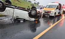 Two injured in a road crash on the R61 near Seaslopes offramp