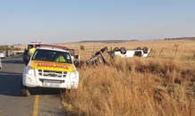 Three injured in a vehicle rollover on the R34, Sandspruit