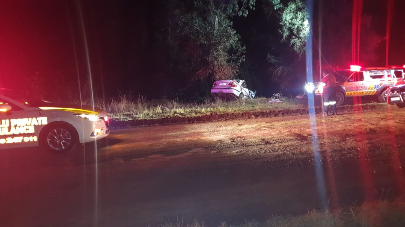 Driver entrapped after a vehicle rollover crash on the D312, near Natal Spa