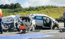Three dead in a serious head-on collision on the R61