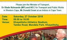 Minister Nzimande to host Transport Imbizo in Western Cape