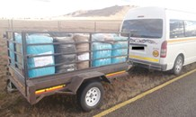 Five suspects arrested for transporting 115 bags of dagga
