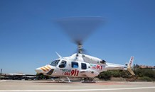 Brits: Helicopter called to airlift teenager following bike crash and fire.