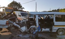 28 People injured in  a two taxi collision at the intersection of Old Richmond Road and Acorn Road, Pinetown