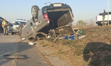 Two injured in Camperdown rollover