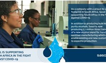 Sasol responds to increased demand for alcohols used in sanitizers and disinfectants in South Africa