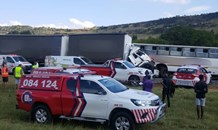 At least 100 injured after truck and school bus collide on the N12 in Westonaria