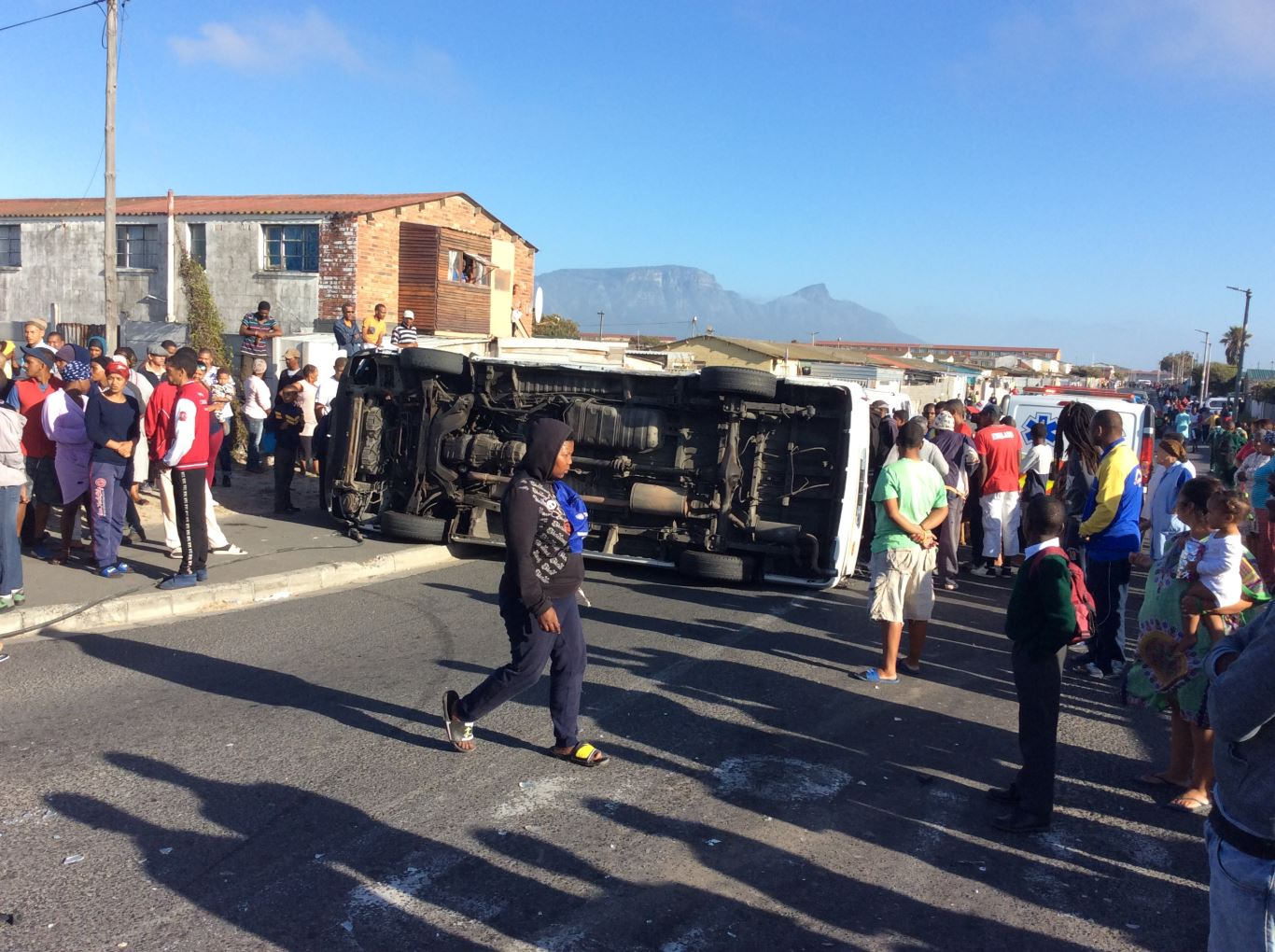 taxi overturns leaving six injured at the military and depsidon road intersection in lavender. Black Bedroom Furniture Sets. Home Design Ideas