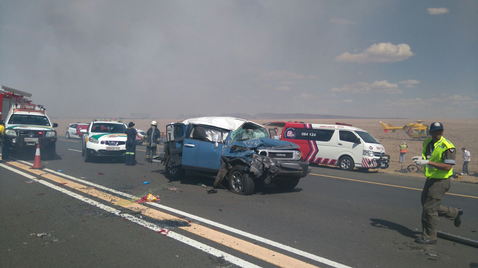 12 injured in multiple vehicle collision in veld fire smoke near ...