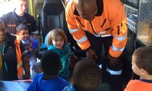 Paramedics share their work and advice with children