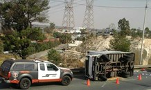 One seriously injured in truck rollover in Booysens