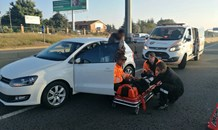 One injured after a rear-impact collision on the M1 South after Woodmead Drive.