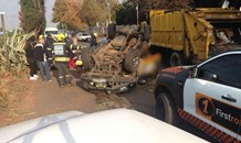 One seriously injured in vehicle rollover in Germiston, east of Johannesburg.