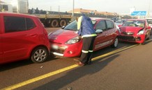 Two injured in three car pile-up on the N1 North at Centurion