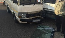 Two taxis collide on the corners of the R55 and R562 in Midrand.