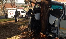 Several injured as taxi driver loses control and crashes into tree