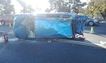 Vehicle rollover on the N12 at the R24 split, east of Johannesburg.
